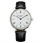Genuine Bergmann 1931 Classic Men's Watch with Second Hand - Black + White