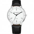 Genuine Bergmann 1933 Classic Unisex Leather Strap Watch - Black + White