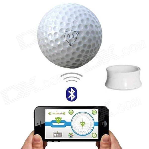Подлинная iConGolf WD0607i IPhone / IPOD / IPAD управления Интерактивная Гольф -Ball - Белый