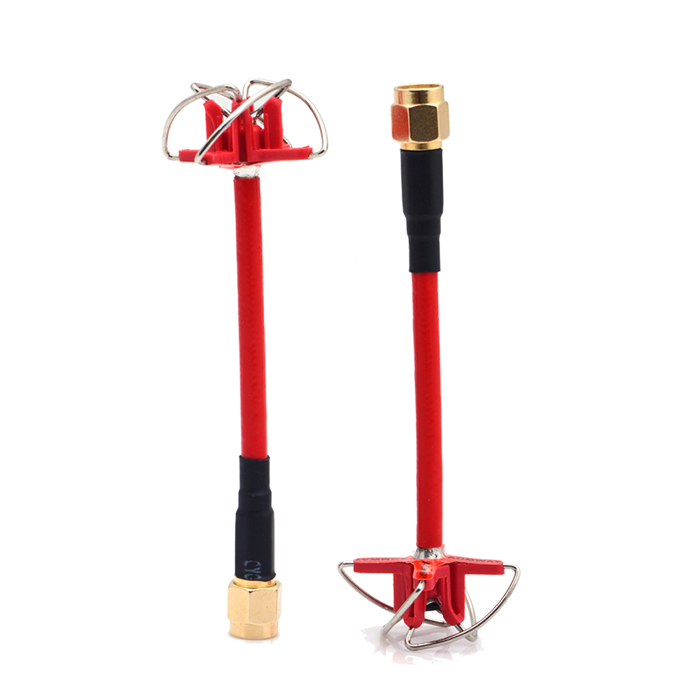FPV 5.8GHz Four-Leaf Petals AntennaStraight Inner Hole - Red (Pair)