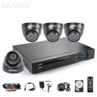 SANNCE 8CH 960H HDMI DVR System w/ 4 x 800TVL Indoor Day/Night Cameras (500GB HDD, NTSC, US Plug)