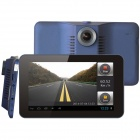 "7"" HD 1080P Android 4.4 GPS Car DVR Camera w/ Radar Detector / FM / Wi-Fi / 16GB ROM / Europe Map"