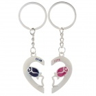 Romantic Lover's Zinc Alloy Keychains - Silver (Pair)