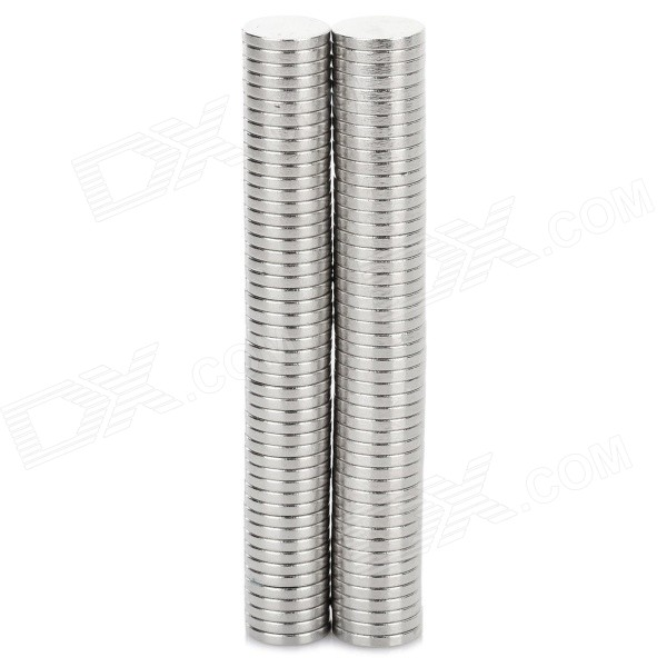 NdFeB N35 Round Magnets - Silver (10*1.5 mm / 100PCS)