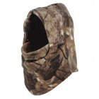 Unisex Winter Outdoor Thickened Warm Polar Fleece Face Mask Hat - Brown