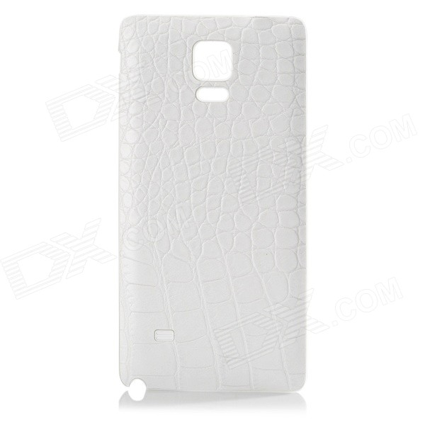 Alligator Pattern Plastic Case for Samsung Galaxy Note 4 N9100 - White