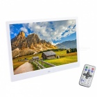 "12"" OLED Screen Digital Picture Photo Frame w/ Remote Control / SD / Mini USB - White"