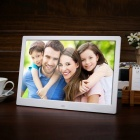 "12"" LCD Screen Digital Picture Photo Frame w/ Remote Control- White"