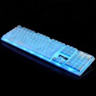 YDL-V300-2 USB 104-Key gaming keyboard w / backlit - wit + zilver