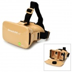 nibiru jq-8002 Universal Headband Virtual Reality 3D & Video Glasses for Smartphones - Golden
