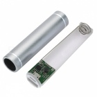 DIY 1*18650 Li-ion Battery USB Charger Power Bank Case w/ LED - Silver