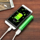 DIY 1*18650 Li-ion Battery USB Charger Power Bank Case w/ LED - Green