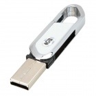 Blade Cutter Style USB 2.0 Flash Drive - White + Silver (4GB)