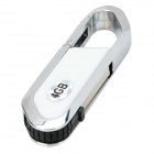Blade Cutter Estilo USB 2.0 Flash Drive - Blanco + Plata (4 GB)