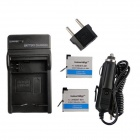 Ismartdigi 401-2 1160mAh 2-Battery + Battery Charger + EU Adapter + Car Charger for GoPro Hero 4
