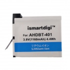 Ismartdigi 401-2 1160mAh Battery, US Plugs/Car Charger for GoPro Hero 4