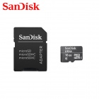 SanDisk Ultra SDQL Micro SDHC /  TF Card w/ SD Adapter - Black (16GB / Class10)