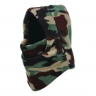 Unisex Winter Outdoor verdickte Warm Polar Fleece Gesichtsmaske Hut - Schwarz + Grün + Multi-Color