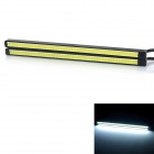 exLED 6W Car Daytime Running Light Cool White Light 6000K 220lm COB - Black + Yellow (12V / 2 PCS)