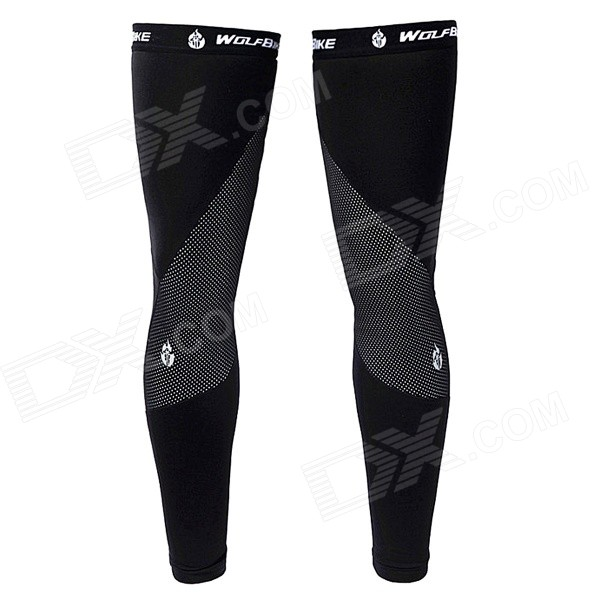 WOLFBIKE BC320-B-0XL Outdoor Cycling Fleece Leg Warmer Sleeves - Black (Size XL / Pair)