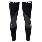 WOLFBIKE BC320-B-00L Outdoor Cycling Fleece Leg Warmer Sleeves - Black (Size L / Pair)