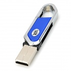 Lâmina do cortador estilo USB 2.0 Flash Drive - azul + prata (16GB)