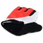 WOLFBIKE Half-Finger Gloves for Cycling - Red + White (L / Pair)