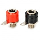 DIY 4mm Plastic + Steel Banana Plugs - Black + Red (2 PCS)