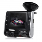 "2.7"" TFT FHD 1080P CMOS 140' Wide-Angle IR Night Vision Car DVR Recorder Camcorder - Black"