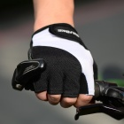 WOLFBIKE Half-Finger Gloves for Cycling - Black + White (M / Pair)