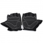 WOLFBIKE Half-Finger Gloves for Cycling - Black + White (XL / Pair)