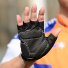 WOLFBIKE Half-Finger Gloves for Cycling - Black + White (L / Pair)