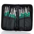 37-in-1 Complete Unlocking Lock Pick Set - Green + Silver
