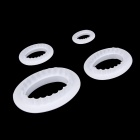 A511 DIY Sugar Paste Cake Chocolate Biscuit Oval Molds Frill Cutters  - White (4 PCS)