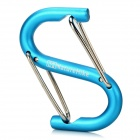 NatureHike Outdoor S-Shaped Aluminum Alloy Carabiner for Camping Climbing - Blue + Silver
