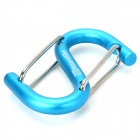 NatureHike Outdoor S-Shaped Carabiner for Camping - Blue + Silver