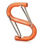 NatureHike Outdoor S-Shaped Carabiner for Camping - Orange + Silver