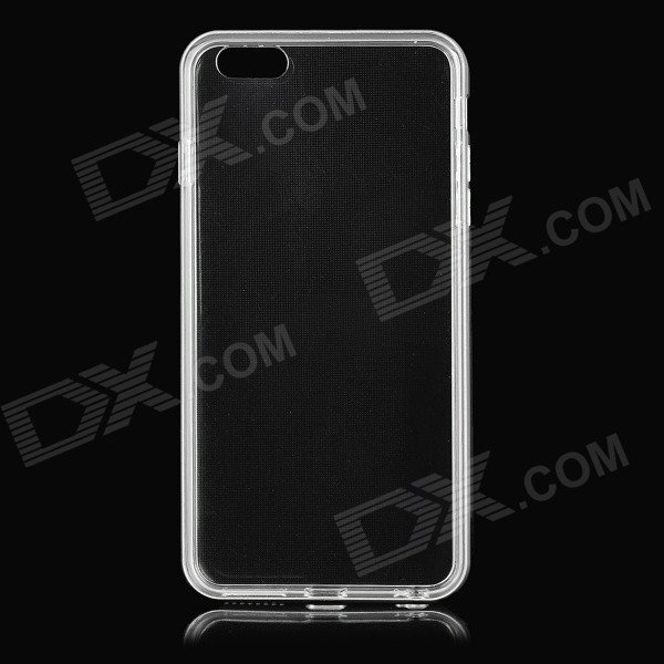 Metal Bumper Frame + Back Case for IPHONE 6PLUS - Silver + Transparent