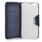 Flip Open PU Leather Case for IPHONE 6 PLUS - White + Deep Blue