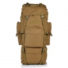 Outdoor Molle War Game Nylon Tactical Shoulders Bag Backpack - Tan