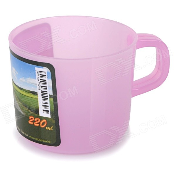 NatureHike Portable Lightweight PP Cup for Camping - Pink (220mL)