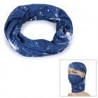 Outdoor Multi-Function Polyester Seamless Head Scarf - White + Blue