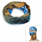 Outdoor Multi-Function Bicycles Pattern Polyester Seamless Head Scarf - Multi-Color