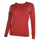 Women's Elastic Skinny Long-sleeved Yoga Fitness Sports T-shirt Jersey - Red (Size M)