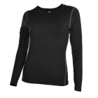 Women's Elastic Skinny Long-sleeved Yoga Fitness Sports T-shirt Jersey - Black (Size M)