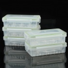 Water Resistant Translucent Storage Boxes for Battery / Components (5 PCS)