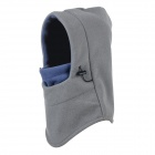 OUTFLY B11143 Windproof Polar Fleece Hood Neck Warmer Hat - Grey + Blue