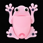 Lovely Frog Style Plastic Suction Cup Wall Storage Caddy Organizer Container - Pink