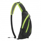 NatureHike Outdoor Sports Water Resistant Nylon One-Shoulder Messenger Bag - Black + Green