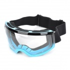 T815-27 UV Protection Motorcycle Racing / Skiing Protective Goggles - Blue + Black